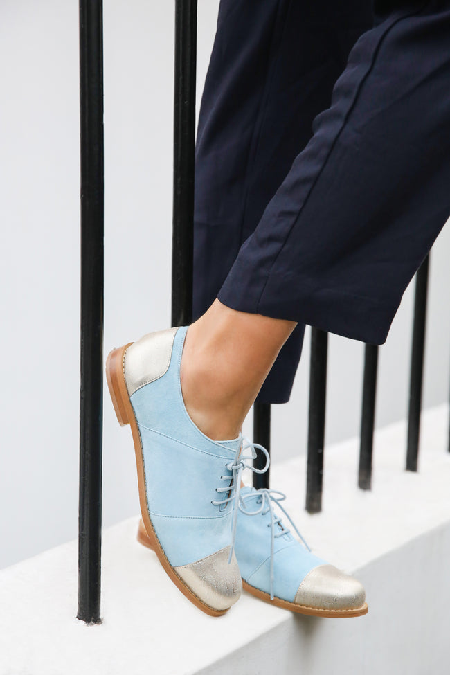 Gigi Blue Brogues