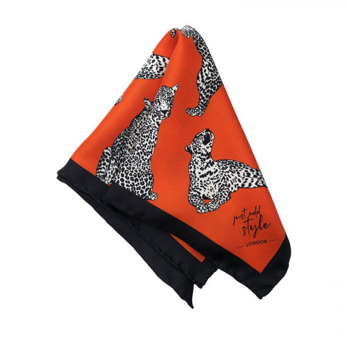 LEOPARD LUST - Silk Pocket Square