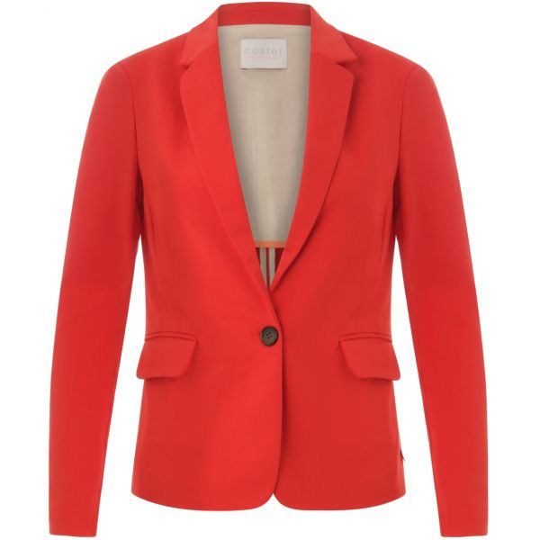 Haute Red  Ribbed Blazer