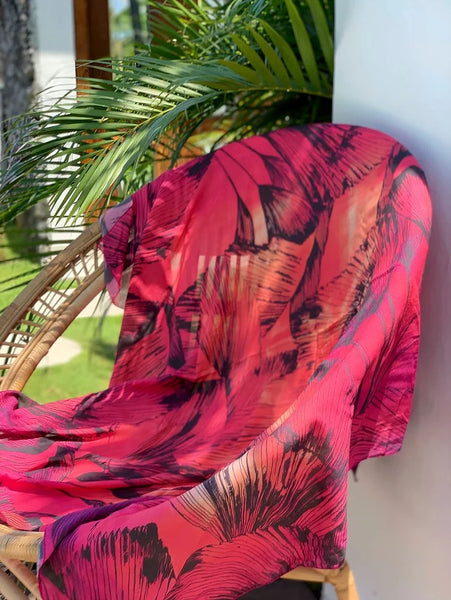 Rustic Palm Luxury Oversized Scarf