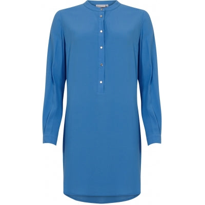 Airy Blue Shirt Dress