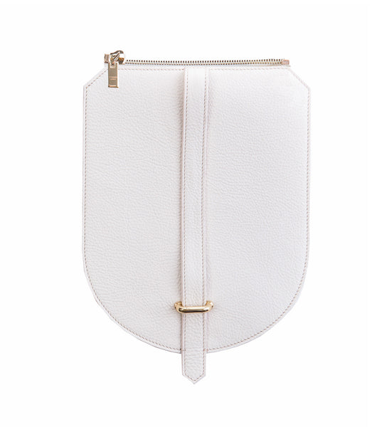 White Leather Flap