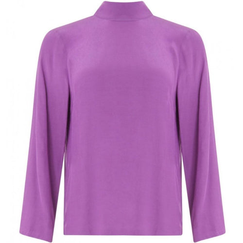 Lilac Blouse with tie-neck