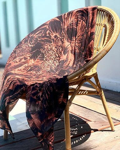 Medinila Antique Gold Oversized Scarf