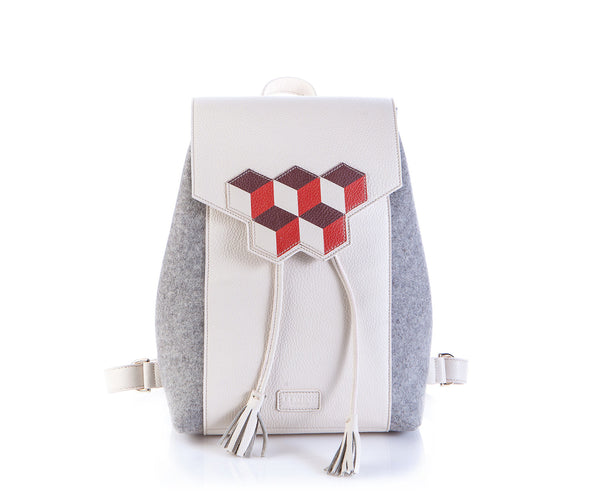 Cheryl Backpack - Red Cubic