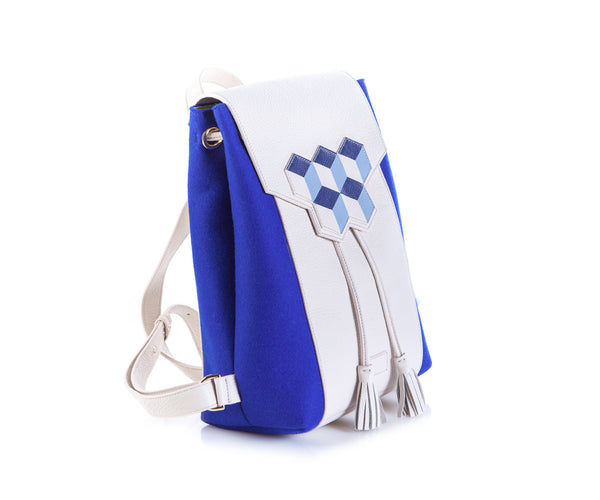 Cheryl backpack - Blue Cubic