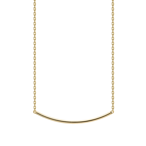 Pipe Gold Necklace