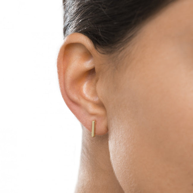 Stick Gold Earrings