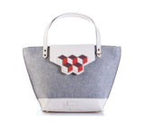 Lorraine Tote Bag- Red Cubic
