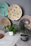 Badara Wall Basket: Cream & Rainbow