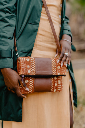 Taya Mud Cloth Crossbody