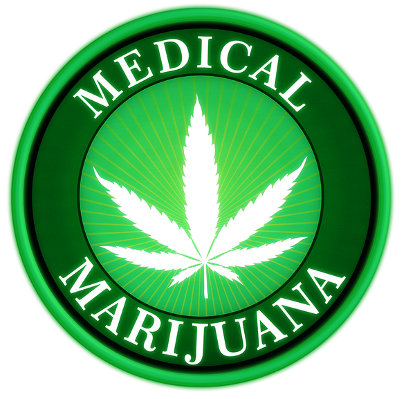 "Pro-Lite 18"" Round Cannabis Sign for Dispensaries, Home, Medical Marijuana"