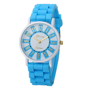 Geneva Womens Watch Silicone Band Multiple Colors