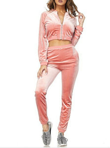 Barbie girl velvet tracksuit