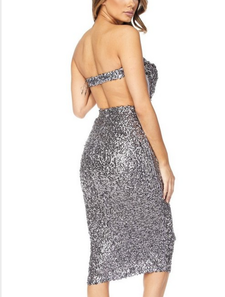 Midnight stars sequin midi