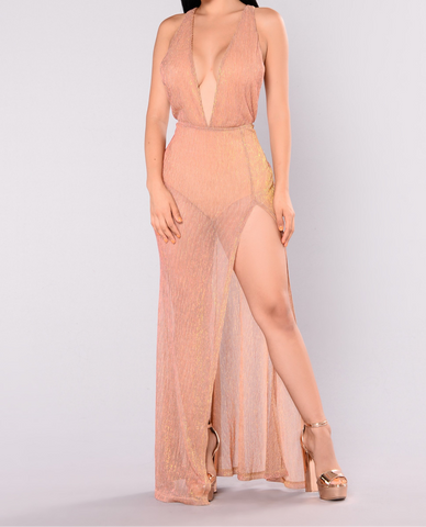 Rose` all day rose gold maxi