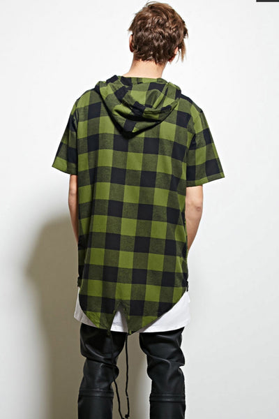 Checkmate hooded flannel