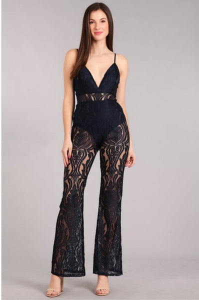 Lovely in lace jumpsuit