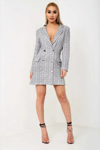 Bossed blazer dress