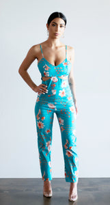 Petal pusher jumpsuit