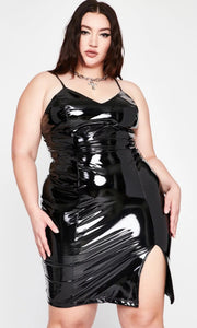 Seductive in latex mini