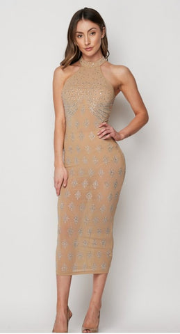 It girl rhinestone bodycon
