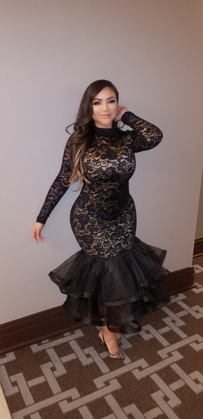 Laced in couture dress