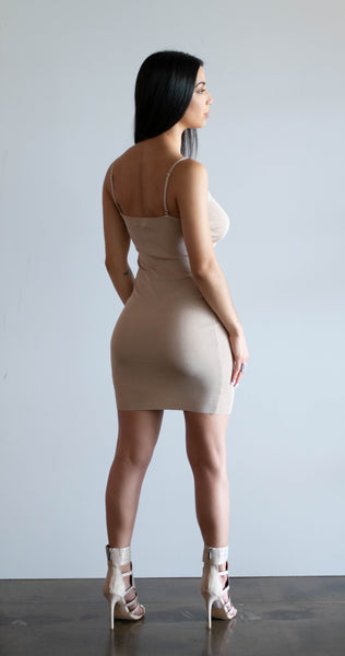 Danny's bodycon dress (in taupe)