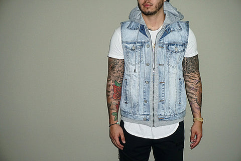 Damned denim vest