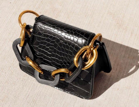 Allure black micro crossbody