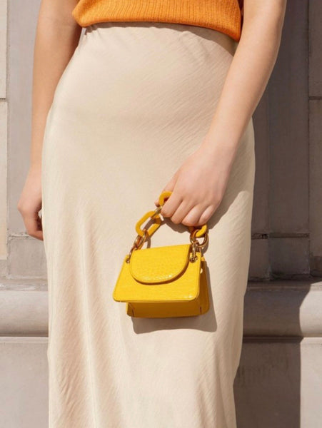 Allure mustard micro crossbody