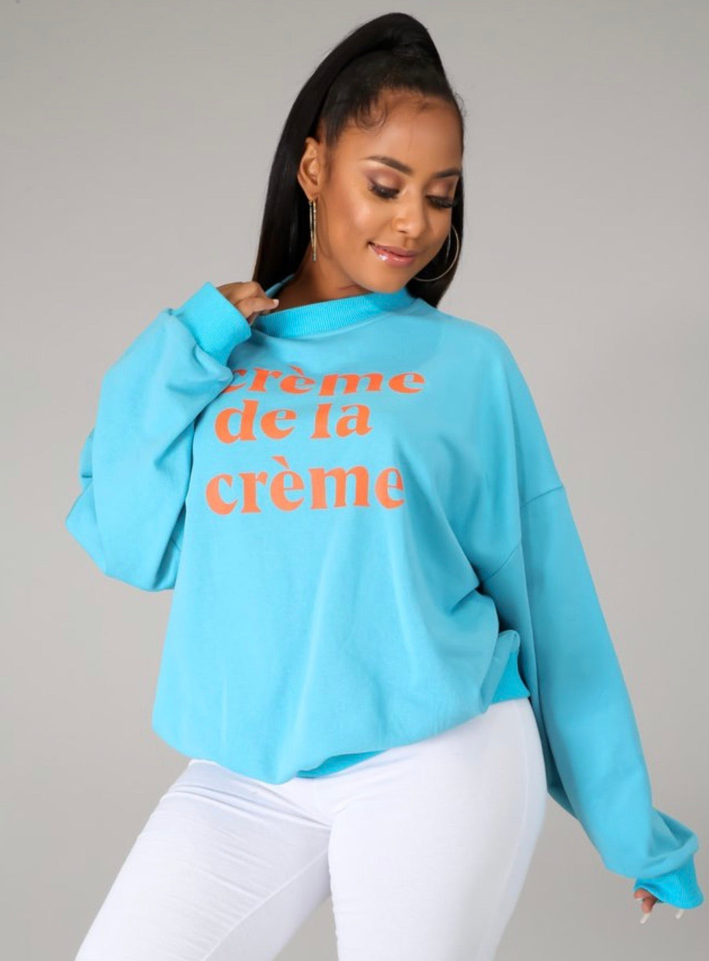 Creme de la creme (over sized sweater)
