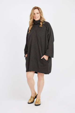 French Terry Turtleneck Dress