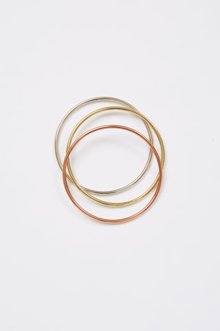 Tube Mixed Metal Bracelet Set