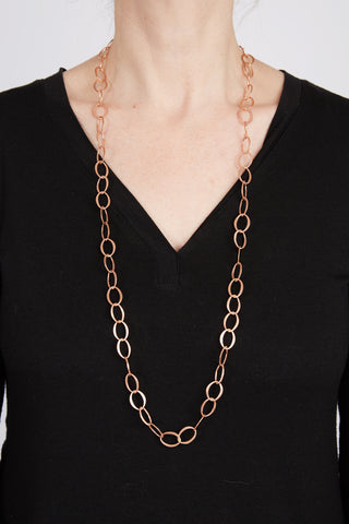 Narrow Matte Copper Necklace