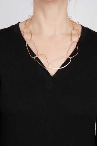 Geometric Matte Necklace 24""