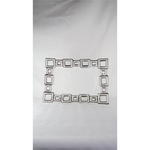 Plate - Silver Link Lrg Rect