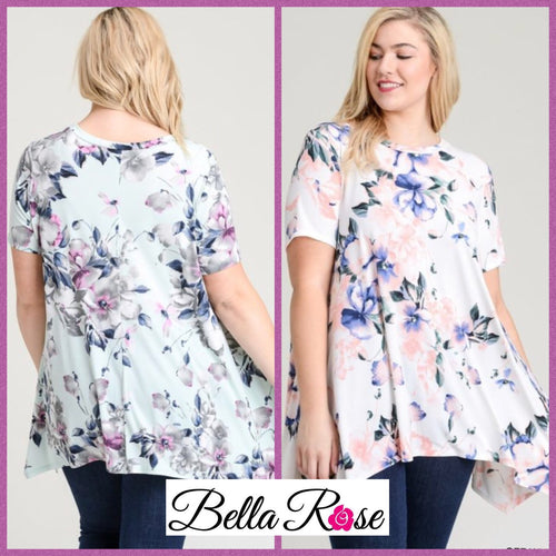 White floral (plus) - bella-rose-boutique-and-tanning