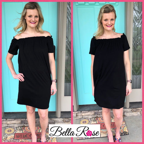 Blk off Shoulder dress