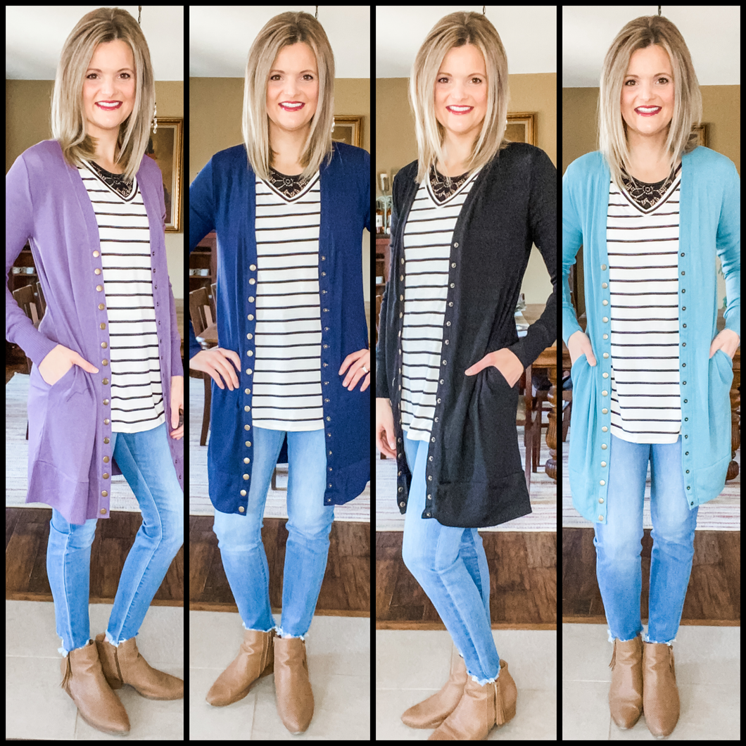 Long Snap Cardigan 3