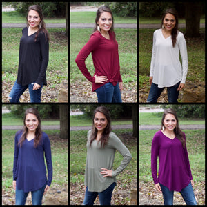 Basic Long Sleeve Tee - bella-rose-boutique-and-tanning