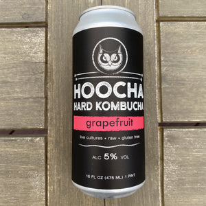 Hoocha Hard Kombucha Grapefruit 16 oz Can