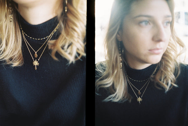 Zoe Alexandria jewellery look book layering necklaces