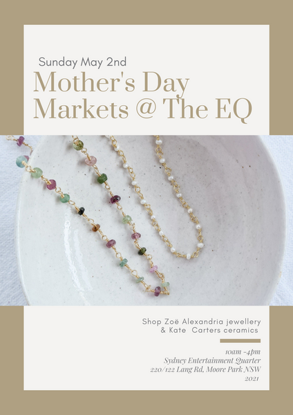 mothers day market jewellery stall