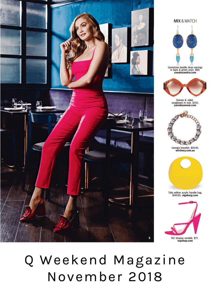 q weekend magazine lapis earrings zoe alexandria