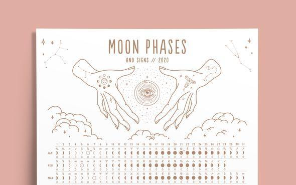 Magic Of I - 2020 Moon Phases + Signs Calender