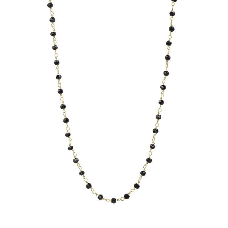Gemstone Choker - Black Spinel