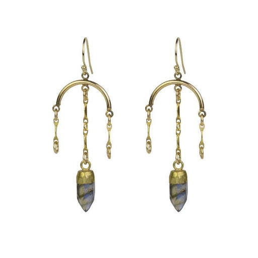 Candelabra Earrings - Labradorite