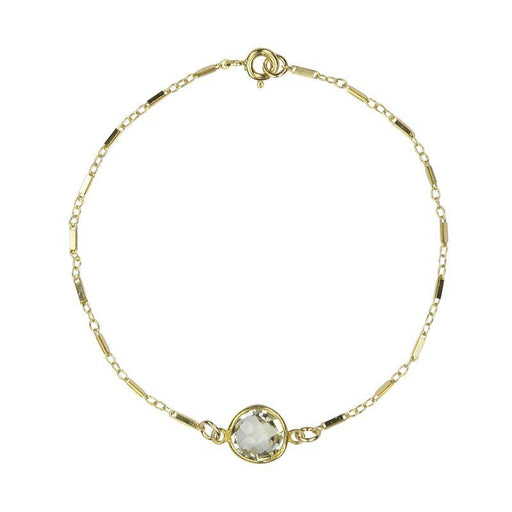 Mini Green Amethyst Connector Bracelet