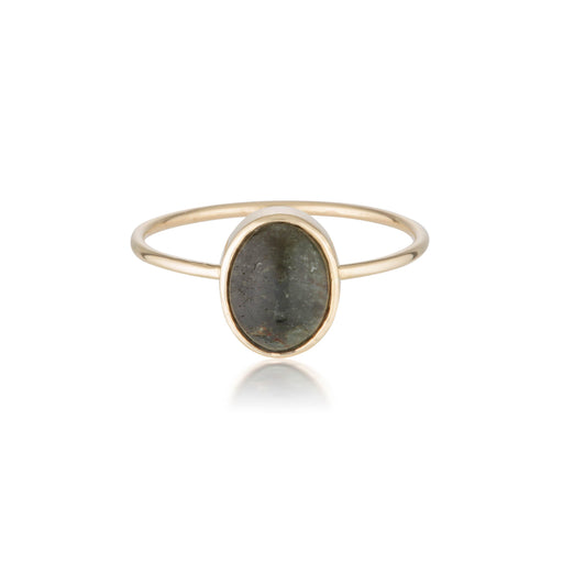 14k Tourmaline Cabochon Ring